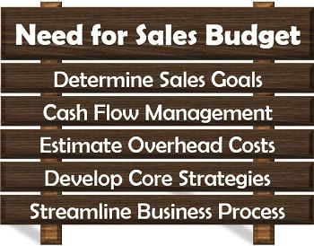 Need for Sales Budget