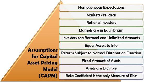 Assumptions for Capital Asset Pricing Model (CAPM)