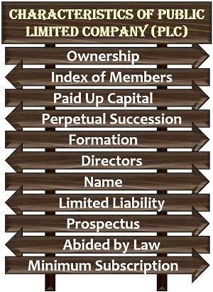 Characteristics of Public Limited Company (PLC)