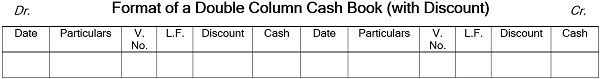 Double Column Cash Book Format