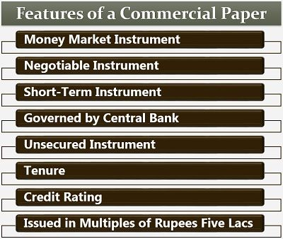 Features of a Commercial Paper
