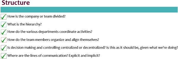 Structure Checklist