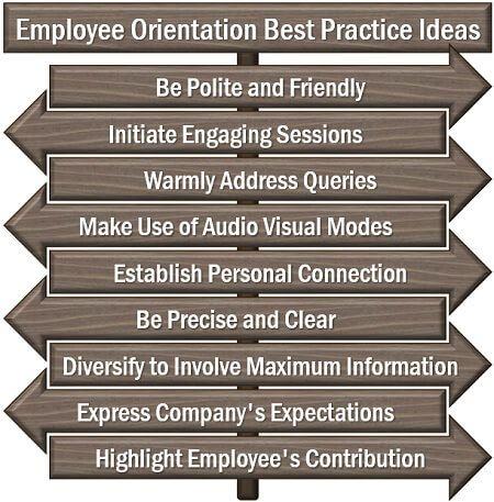Employee Orientation Best Practice Ideas