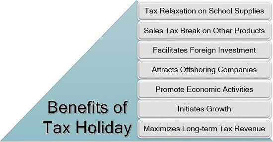 Benefits of Tax Holiday