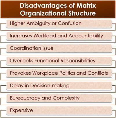 Disadvantages of Matrix Organizational Structure