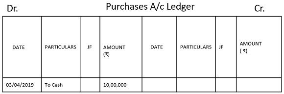 purchase account ledger