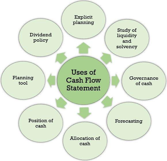 USES OF CASH FLOW STATEMENT