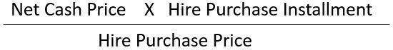 formula to calculate cash price installment
